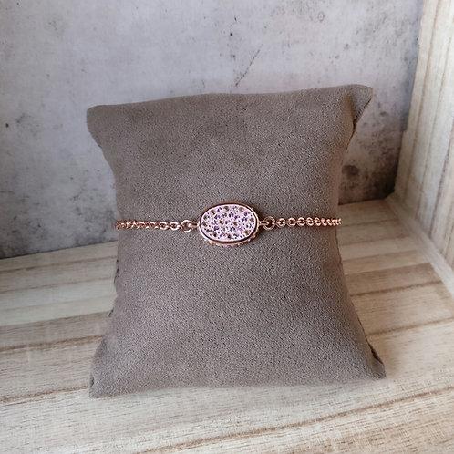 Armband ovaal Phantasya rosegold
