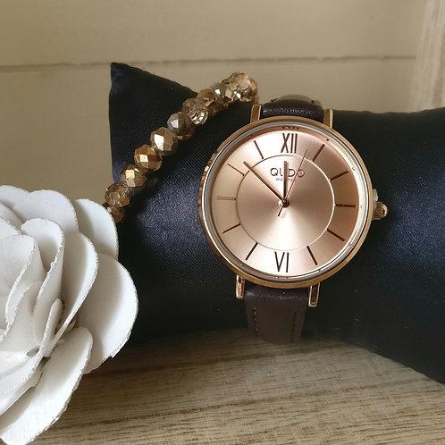 Qudo uurwerk Meleta rosé goud.