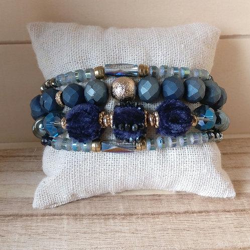 Armbandjes in set donkerblauw