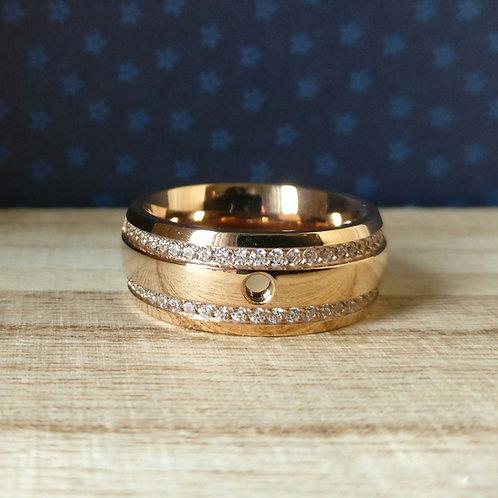 Qudo ring Lecce deluxe rosé goud