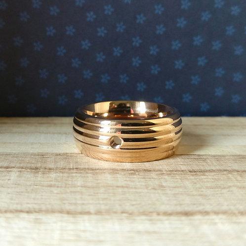 Qudo ring Sanza rosé goud
