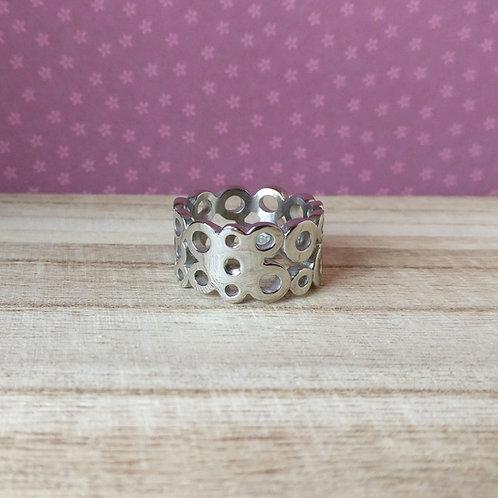 Qudo ring Ancona zilver