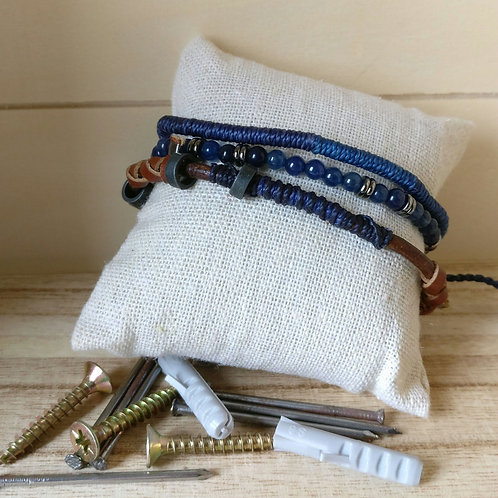 Armband man in set blauw