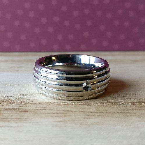 Qudo ring Sanza zilver