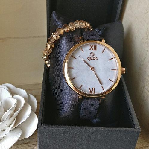 Qudo uurwerk Cecina rosé goud.
