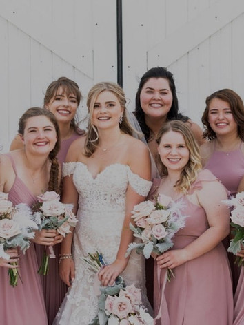 The Bridesmaids and the bride