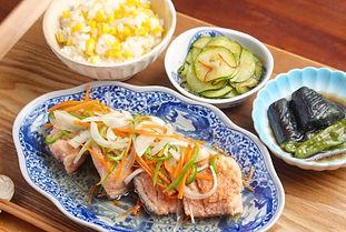 【レシピ画像全体像】追加コース .鮭の南蛮漬け色加工済.jpg
