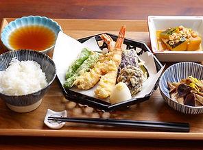 【レシピ全体画像】天ぷら・きのこの焼き浸し・かぼちゃのそぼろ煮.jpg