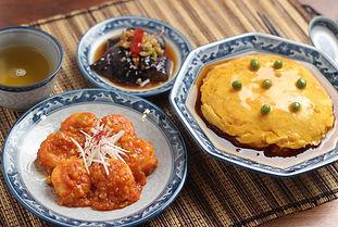 【レシピ全体画像】えびちり、かにたま、冷やしナスの中華漬け.jpg
