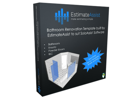 Bathroom Renovation Template built by EstimateAssist to suit SoloAssist Software users.