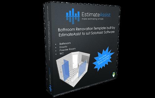 Bathroom Renovation Template built by EstimateAssist to suit SoloAssist Software