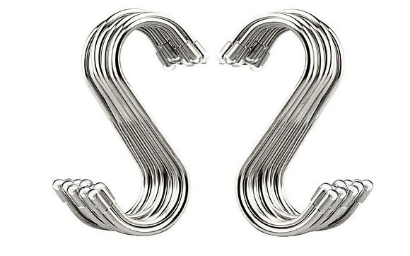 "3.4"" S Shaped Hooks Stainless Steel Metal Hanging Hooks"