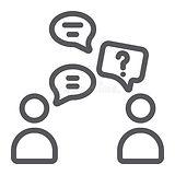 línea-de-discurso-icono-charla-y-el-habl