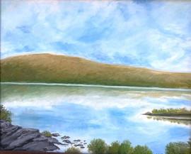yellow mountain 8x10 Oil on Canvas Board
