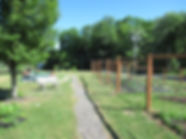 128 Canal St., libray yard, garden fence, tree