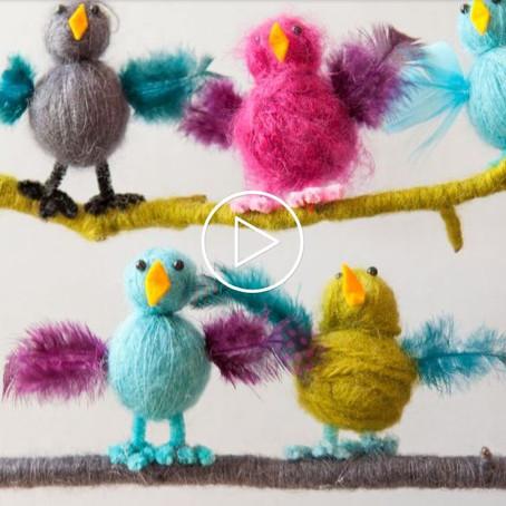 Crafter-Noon: Yarn Birds