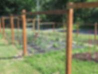 128 Canal St., garden fence, garden plots