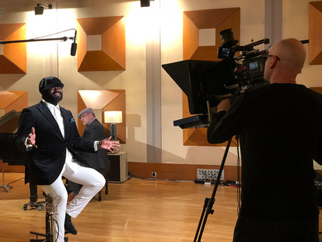 Filming with Gregory Porter