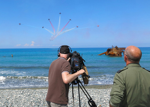 BBC Trooping the Colour VT - Red Arrows in Cyprus