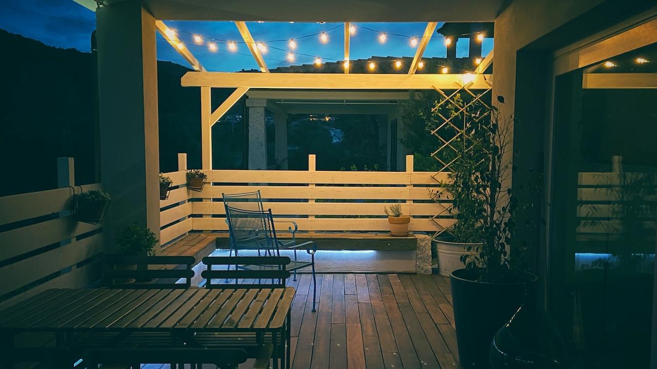 Terrazzo alla sera