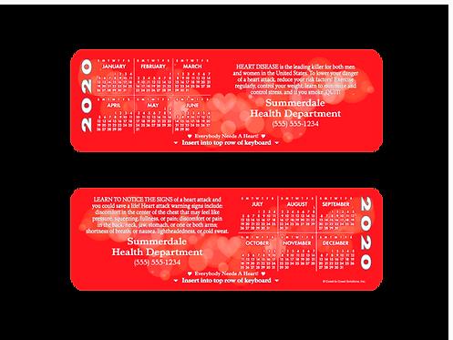Heart Health Calendar Keyboard Card