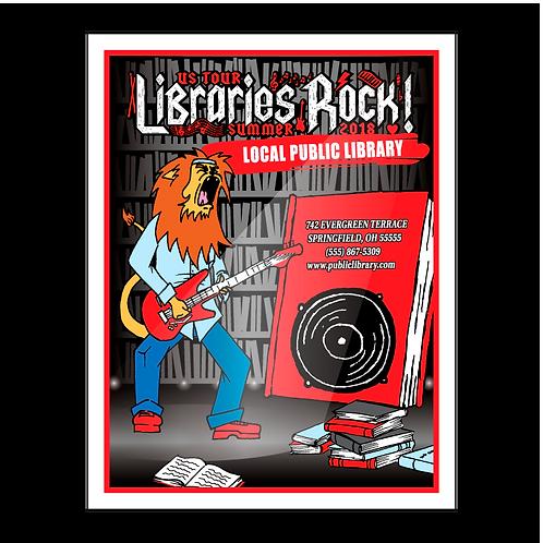 Libraries Rock Coloring Book