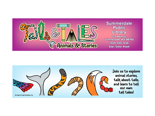 Tails & Tales - Summer Reading 2021 Bookmark