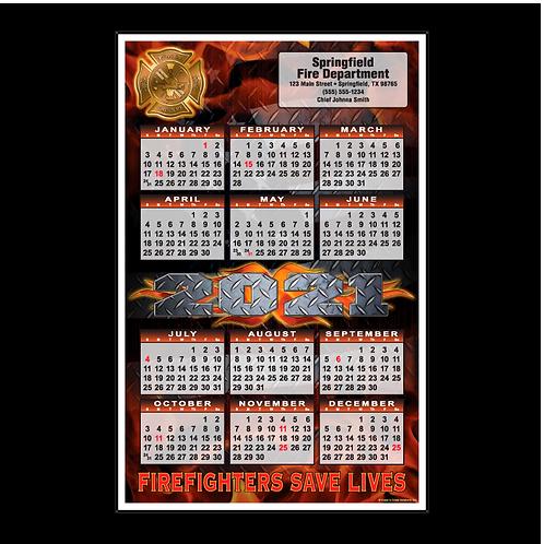 Diamond Plate Fire Department Calendar