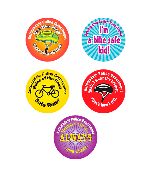 Bike Safety Assorted Stickers