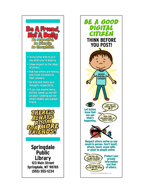 Be A Friend, Not A Bully Bookmark