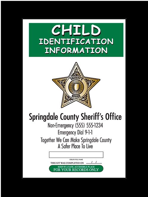 Sheriff 5pt Star Fingerprint Card Front
