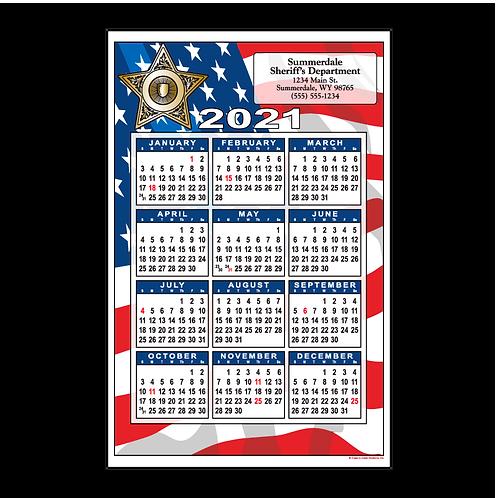 5pt Sheriff Flag Wall Calendar