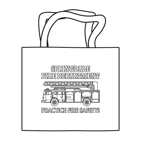 Fire Department Coloring Tote