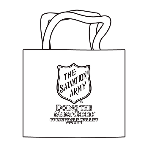 Salvation Army Shield Coloring Tote