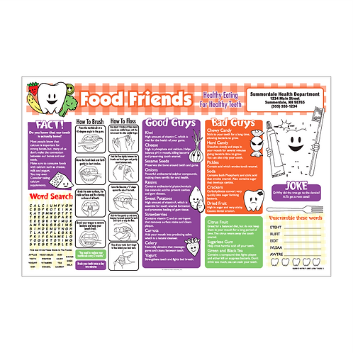 Healthy Eating For Healthy Teeth Activity Sheet