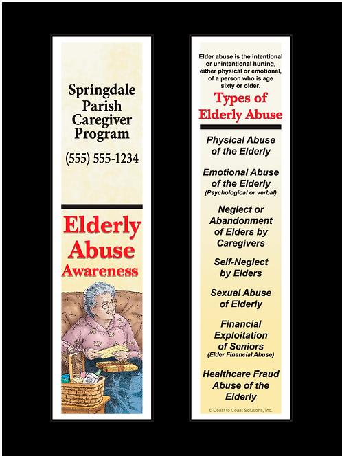 Elderly Abuse Bookmark
