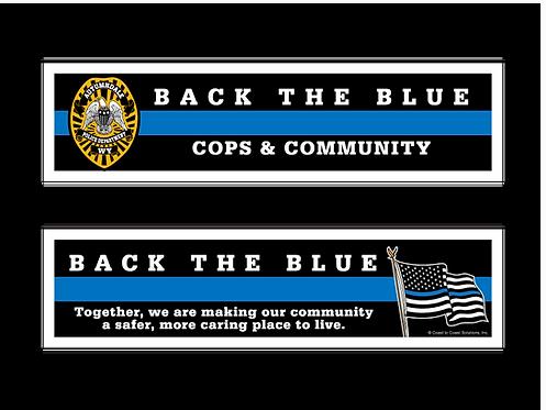Cops & Communities - Back The Blue Bookmark