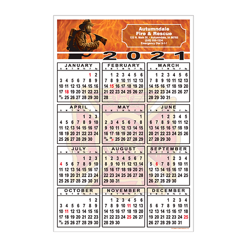 Firefighter Wall Calendar