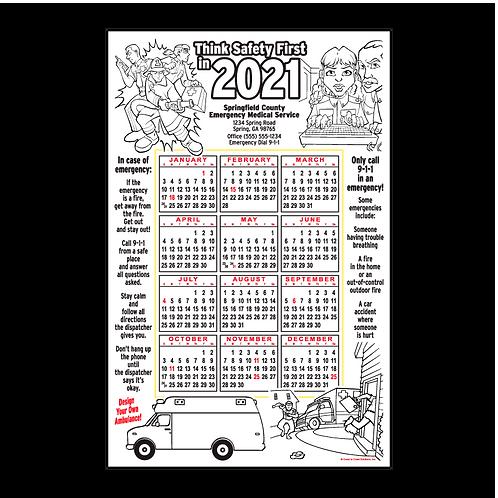 EMS-EMT Coloring Calendar