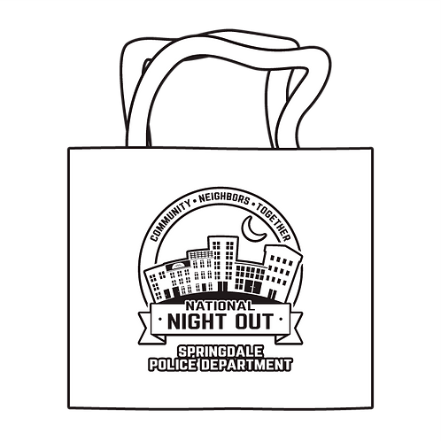 National Night Out Coloring Tote