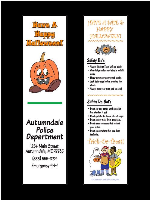 Halloween (Pumpkin With Feet) Bookmark