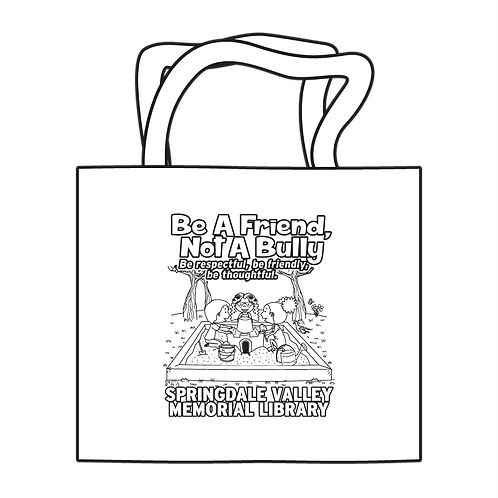 Be A Friend, Not A Bully Coloring Tote