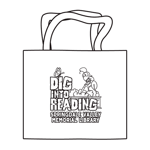 Dig Into Reading Coloring Tote