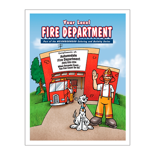 Fire Department Coloring Book