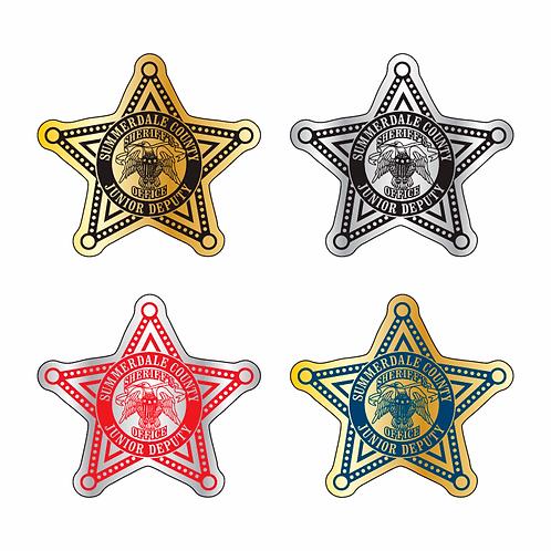 5pt Star Shaped Sticker
