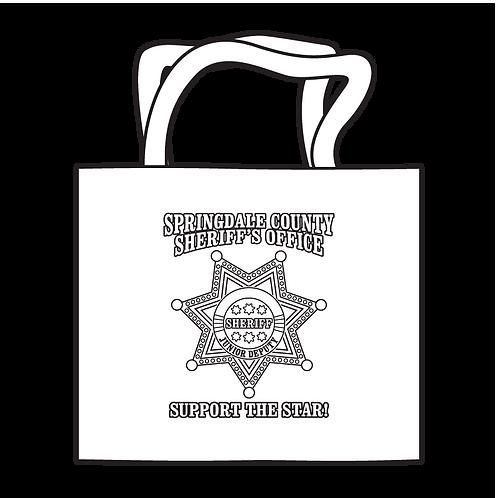 Sheriff 7pt Badge Coloring Tote