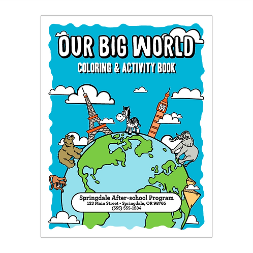 Our Big World Coloring Book