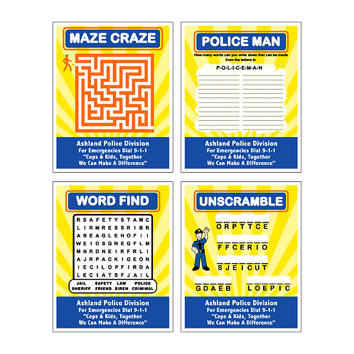 Police Department Activity Card Front