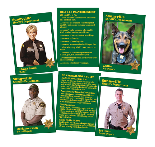 Sheriff Trading Cards