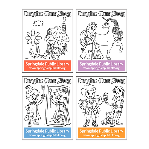 Imagine Your Story Activity Card Assortment - Front